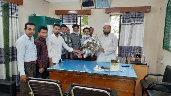 কানাইঘাটে উপজেলায় কৃষি অফিসার হিসাবে মো:এমদাদুল হক এর যোগদান—-